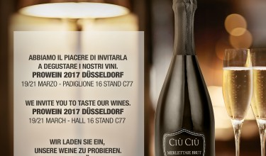 Ciù Ciù Winery at ProWein 2017 in DÜSSELDORF – March 19th-21st, 2017