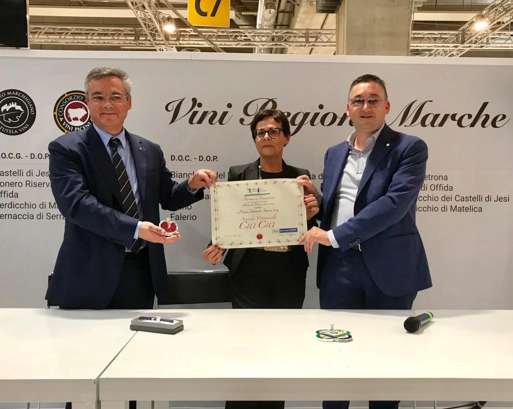 """Talenti e Imprese"" award to Ciù Ciù winery"