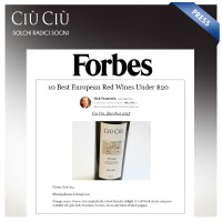 "Ciù Ciù ""Bacchus"" red wine on Forbes: one of the best 10 European wines"