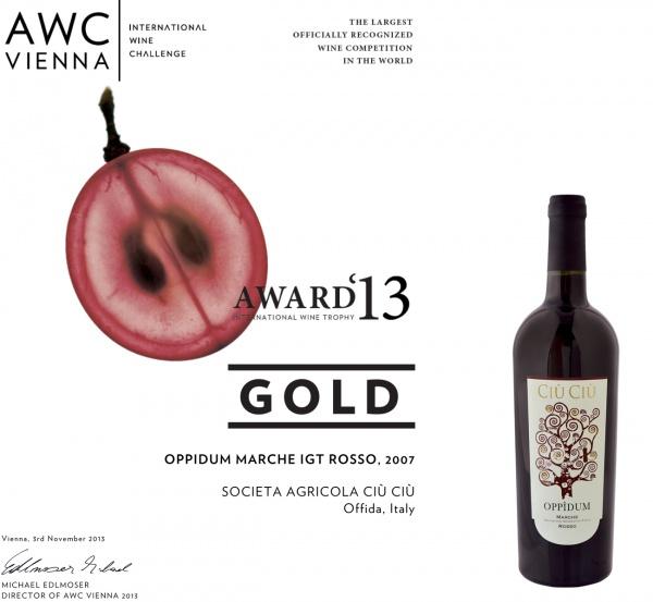 I vini Ciù Ciù si aggiudicano i premi del concorso AWC Vienna