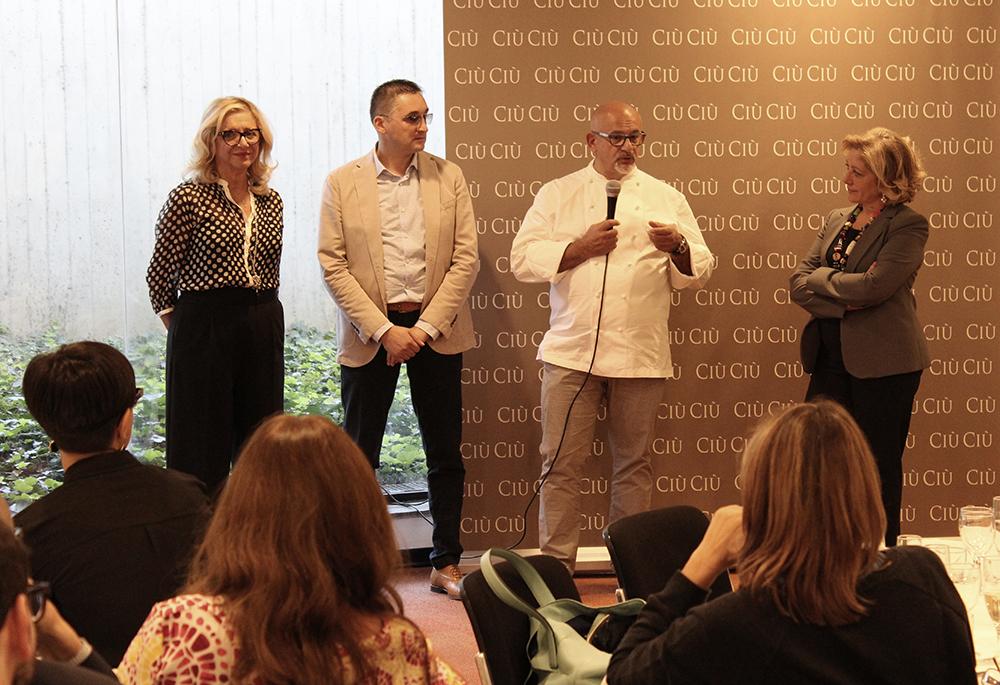 Lo Chef pluristellato Claudio Sadler realizza un menù per i vini Ciù Ciù