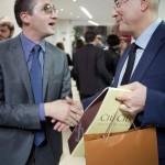 Walter Bartolomei con Aldo Cazzullo del Corriere della Sera