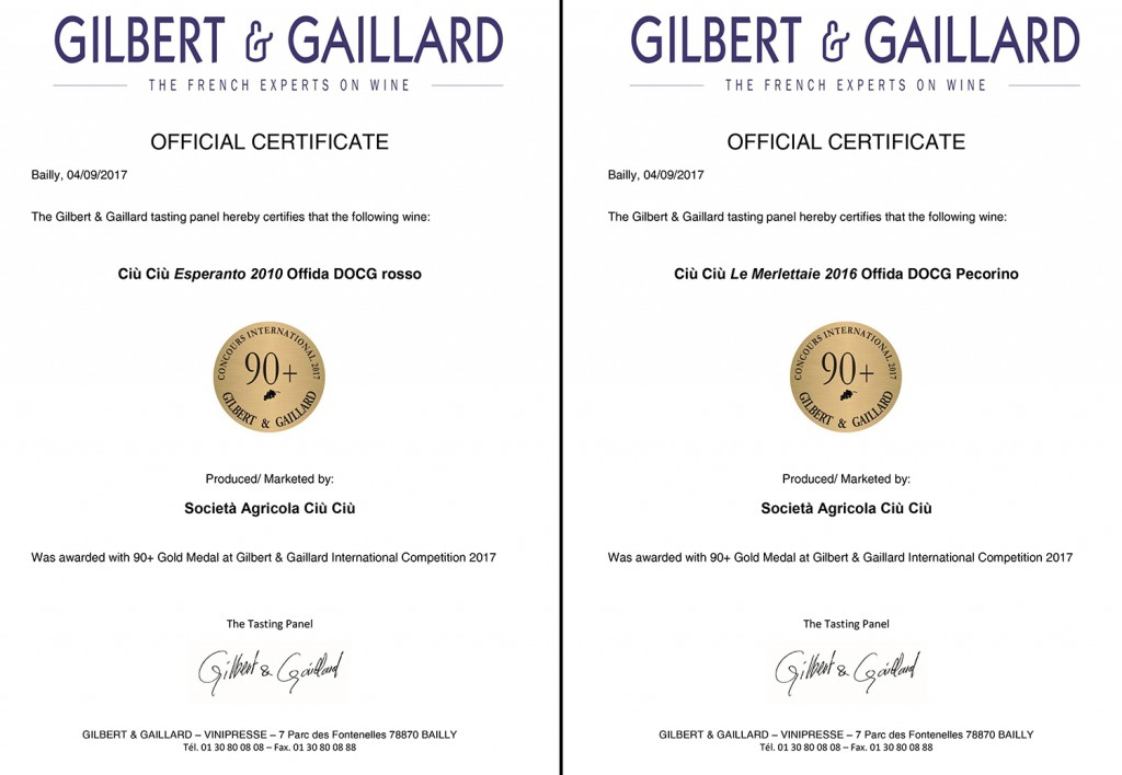 Doppia MEDAGLIA D'ORO sulla guida GILBERT & GAILLARD