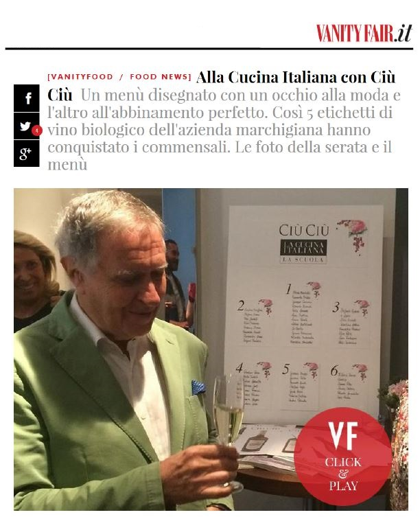 L'evento Ciù Ciù a La Cucina Italiana su VanityFair.it