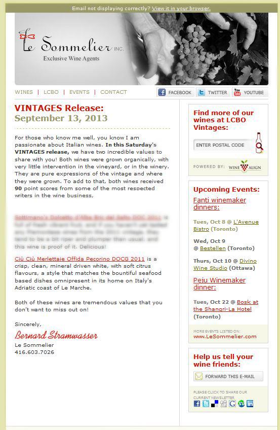 """Le Merlettaie nella Vintages Release di """"Le Sommelier Inc"""""""